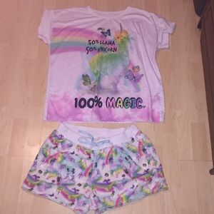 Justice girls matching pajama set